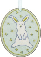 Spring Bunny Decorated Easter Egg Large Ornament