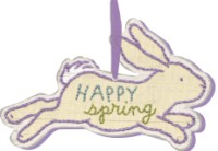 Happy Spring Bunny Ornament