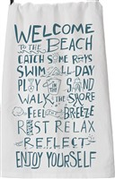 Welcome To The Beach Dishtowel