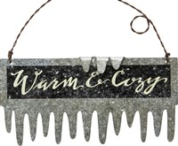 Warm & Cozy Tin Icicle Ornament