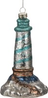 Glass Lighthouse Ornament