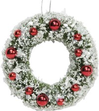 Christmas Decorated Wreath Ornament