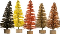 Fall Mini Bottle Brush Tree Set