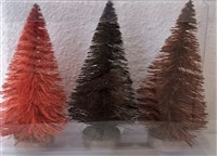 Fall Small Bottle Brush Tree Set