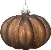 Glass Pumpkin Ornament