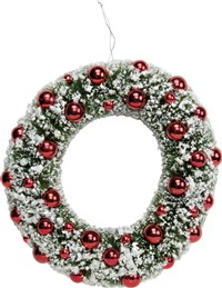 Christmas Bottle Brush Wreath