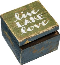 Lake Love Slat Hinged Box