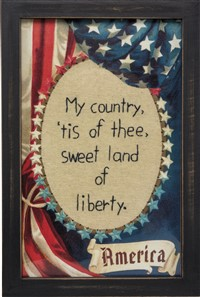 My Country Tis Of Thee Stitchery