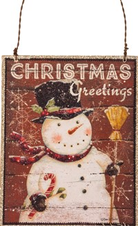Christmas Greetings Ornament