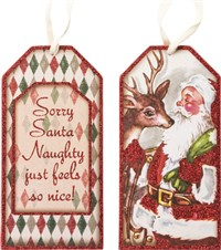 Sorry Santa Bottle Tag