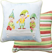 Christmas Elves Pillow