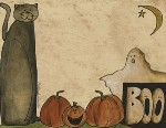 Boo, Cat & Pumpkin Notepad