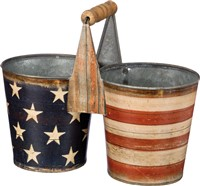Stars & Stripes Tin Caddy