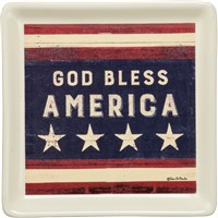 God Bless America Trinket Tray