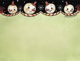Snowman Quartet Notepad