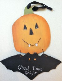 Good Times Tonight Halloween Plaque