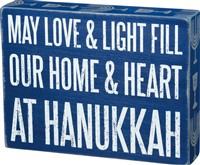 Love & Light Hanukkah Box Sign