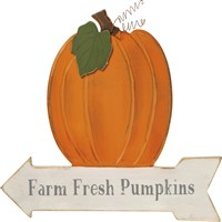 Fresh Pumpkins Wall Decor