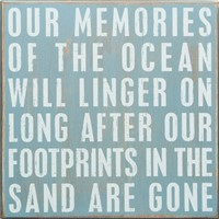 Memories Of Ocean Box Sign