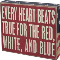 Red White & Blue Box Sign
