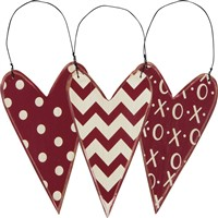 Valentine Ornament Set XOXO