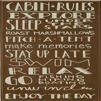 Cabin Rules Box Sign