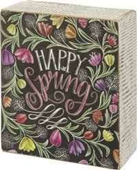 Happy Spring Chalk Box Sign