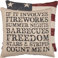 Fireworks & Freedom Pillow