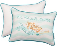 Beach Time Mermaid Pillow