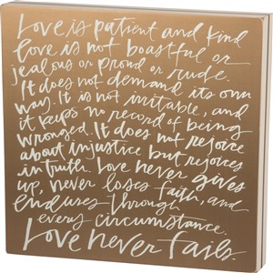 Love Is Box Sign