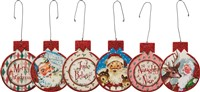 Santa Retro Red Ornament Set