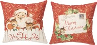 Ho Ho Ho Retro Pillow
