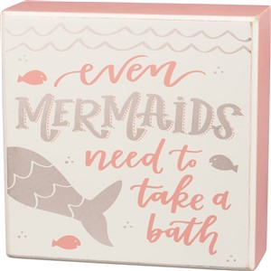 Mermaids bath Box Sign