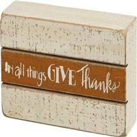 In All Things Give Thanks Slat Sign