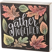 Gather Together Chalk Box Sign