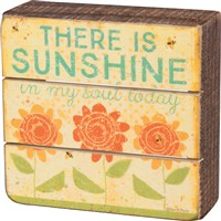 There Is Sunshine Slat Box Sign