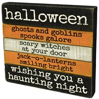 Halloween Slated Sign