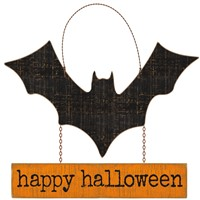 Happy Halloween Bat Sign