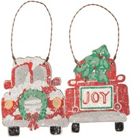 Truck Ornament Set