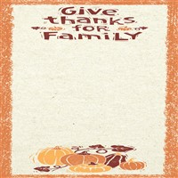 Give Thanks For Family List Notepad