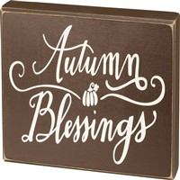 Autumn Blessings Box Sign