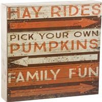 Family Fun Fall Slat Box Sign