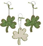 Wooden Shamrock Ornaments