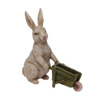 RAZ Bunny with Wheelbarrow