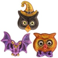 RAZ Bobble Eye Bat & Owl Heads
