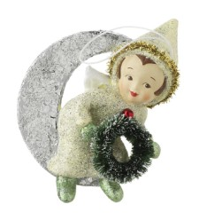 RAZ  Vintage Wreath Angel Ornament
