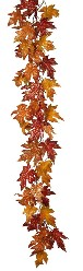 RAZ Glittered Maple Leaf Garland