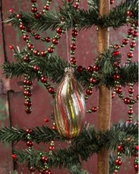 Ragon House Oval Striped Ornament