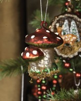 Ragon House Antique Mercury Double Mushroom Ornament