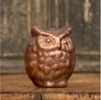 Ragon House Bronze Mercury Glass Owl Votive